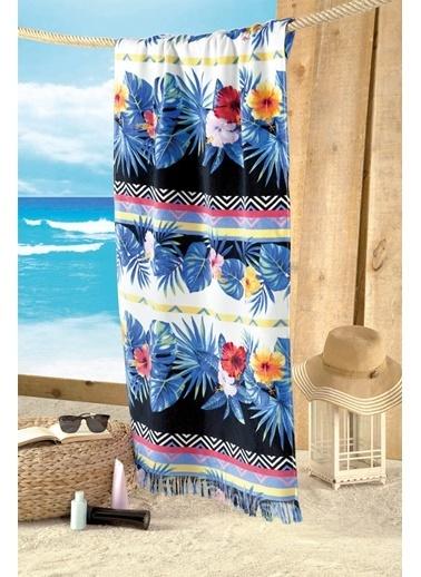 Maxstyle Miami Kadife Plaj Havlusu 70x160 Cm Renkli